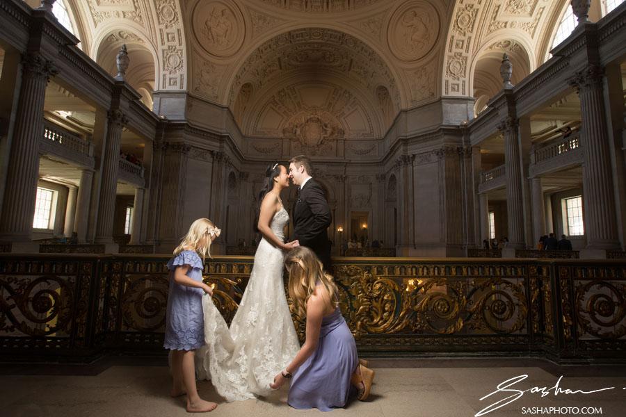 San Francisco City Hall Wedding Photography By Sasha