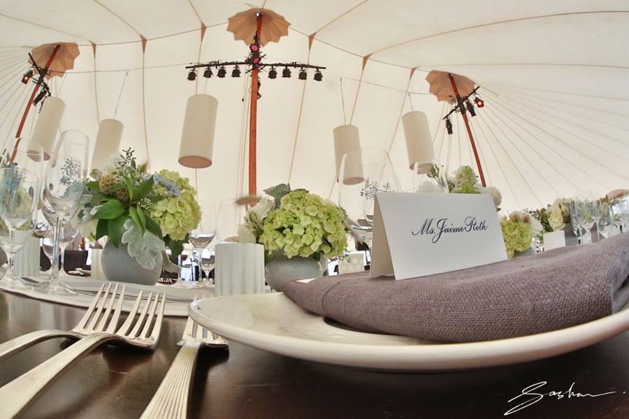 elegant wedding tent