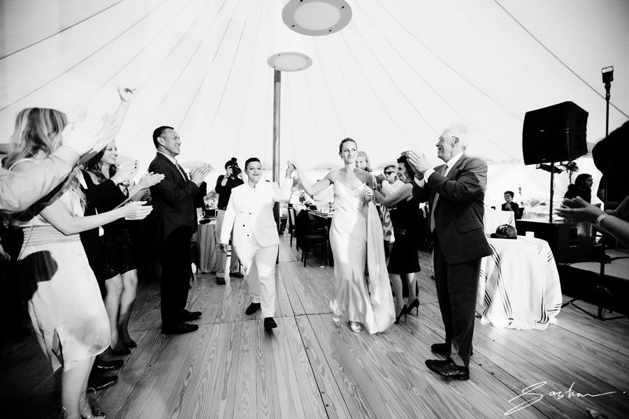two brides grand entrance
