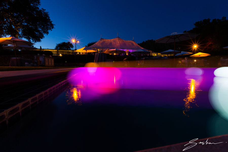 wedding tent night